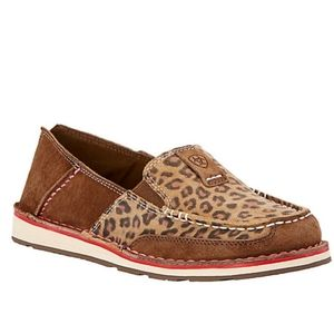 Ariat Earth Brown Leopard Cheetah Cruiser Shoes 8